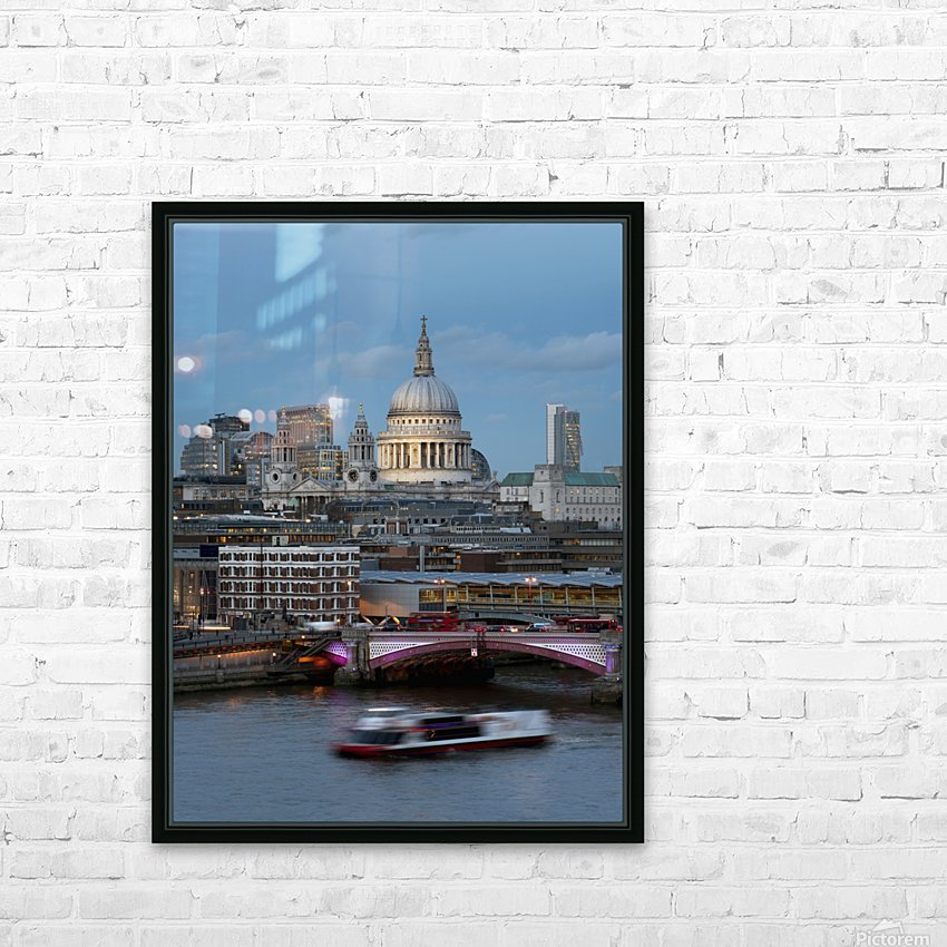 St. Paul's Cathedral and Blackfriars; London, England HD Sublimation Metal print with Decorating Float Frame (BOX)