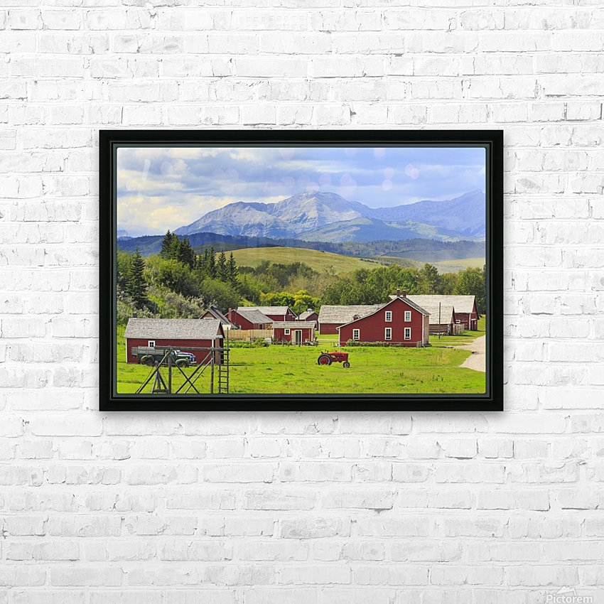 Bar U Ranch National Historic Site; Longview, Alberta, Canada HD Sublimation Metal print with Decorating Float Frame (BOX)