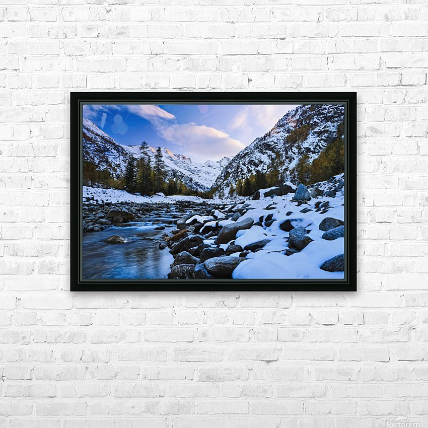 Valnontey torrent, Gran Paradiso National Park; Italy HD Sublimation Metal print with Decorating Float Frame (BOX)