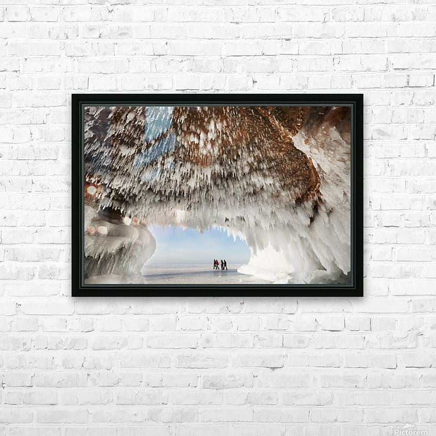 Ice caves on Lake Superior, near Bayfield; Michigan, United States of America HD Sublimation Metal print with Decorating Float Frame (BOX)