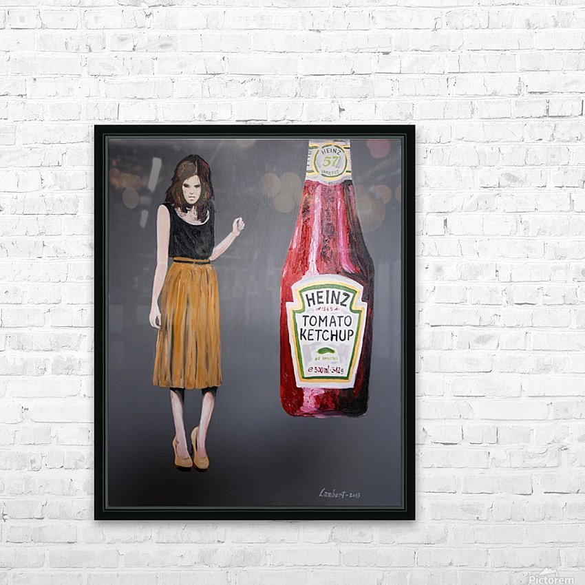 Ketchup killer HD Sublimation Metal print with Decorating Float Frame (BOX)