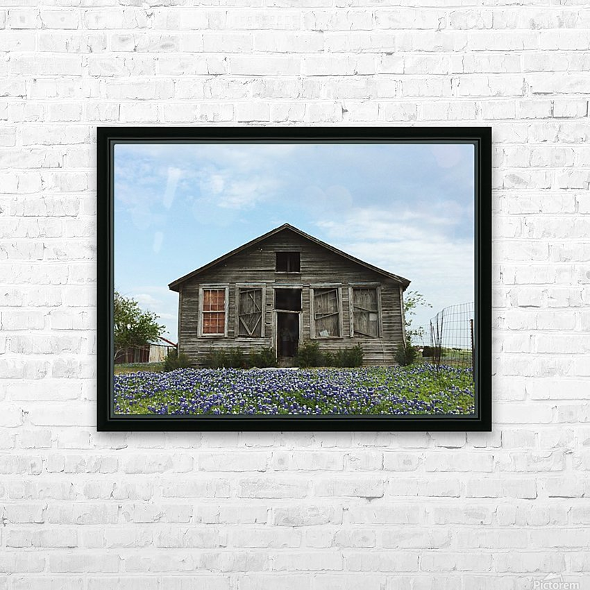 Blue Bonnet Shack HD Sublimation Metal print with Decorating Float Frame (BOX)
