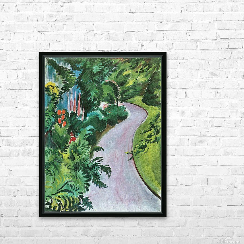 Path in the garden by August Macke HD Sublimation Metal print with Decorating Float Frame (BOX)