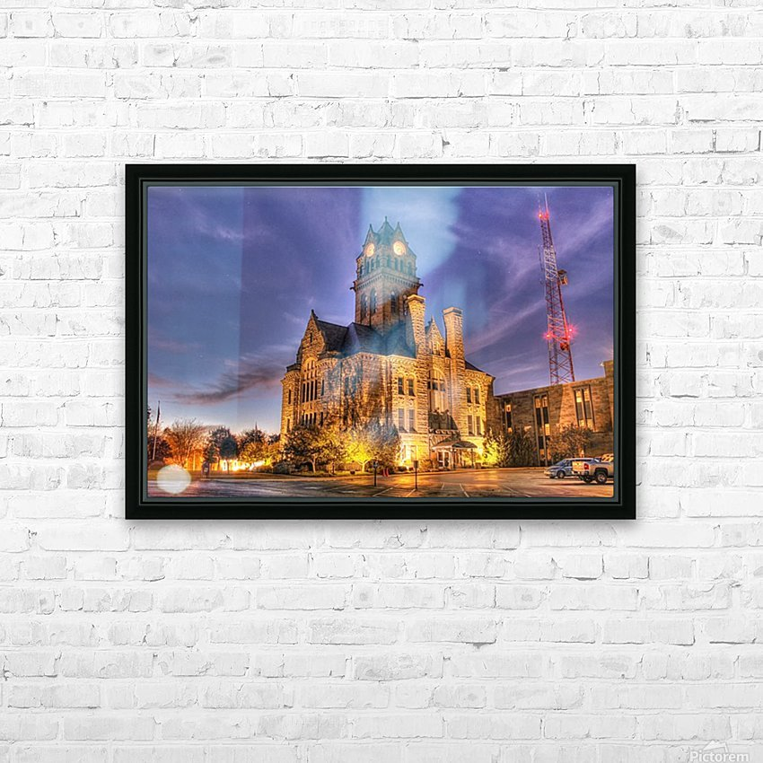 Twilight Courthouse HD Sublimation Metal print with Decorating Float Frame (BOX)
