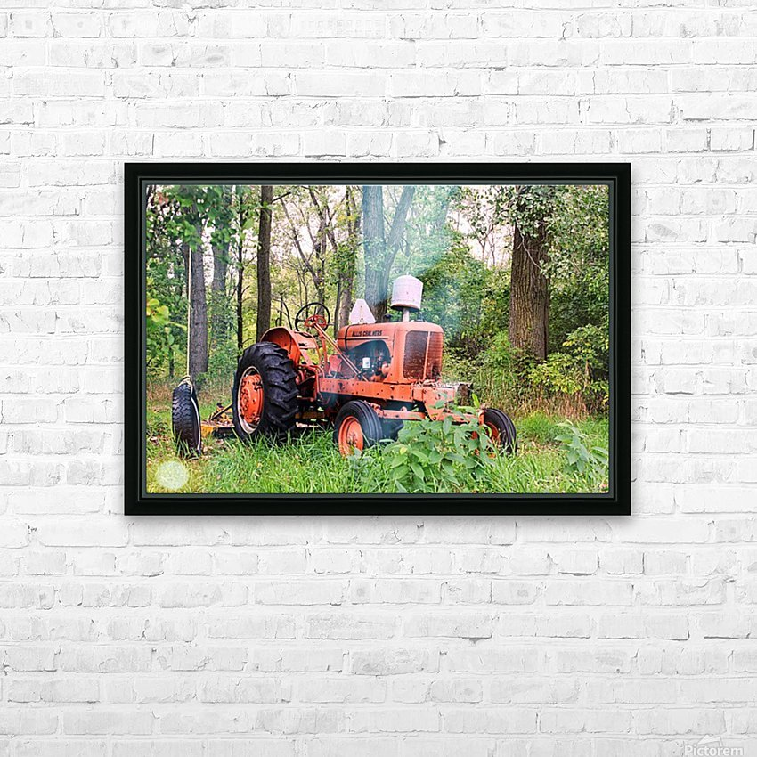 Vintage Tractor HD Sublimation Metal print with Decorating Float Frame (BOX)