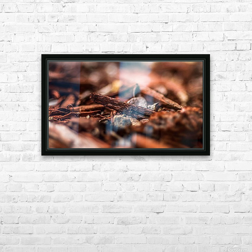 Wood Chips HD Sublimation Metal print with Decorating Float Frame (BOX)