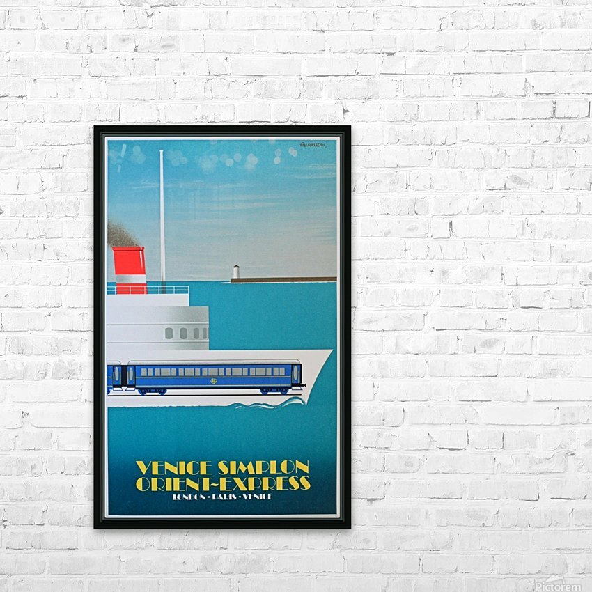 Simplon Orient Express Poster HD Sublimation Metal print with Decorating Float Frame (BOX)