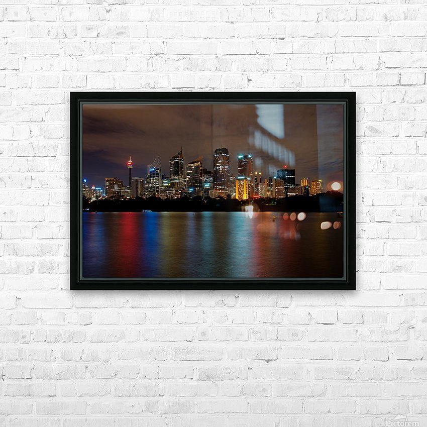 Colors of Sydney HD Sublimation Metal print with Decorating Float Frame (BOX)