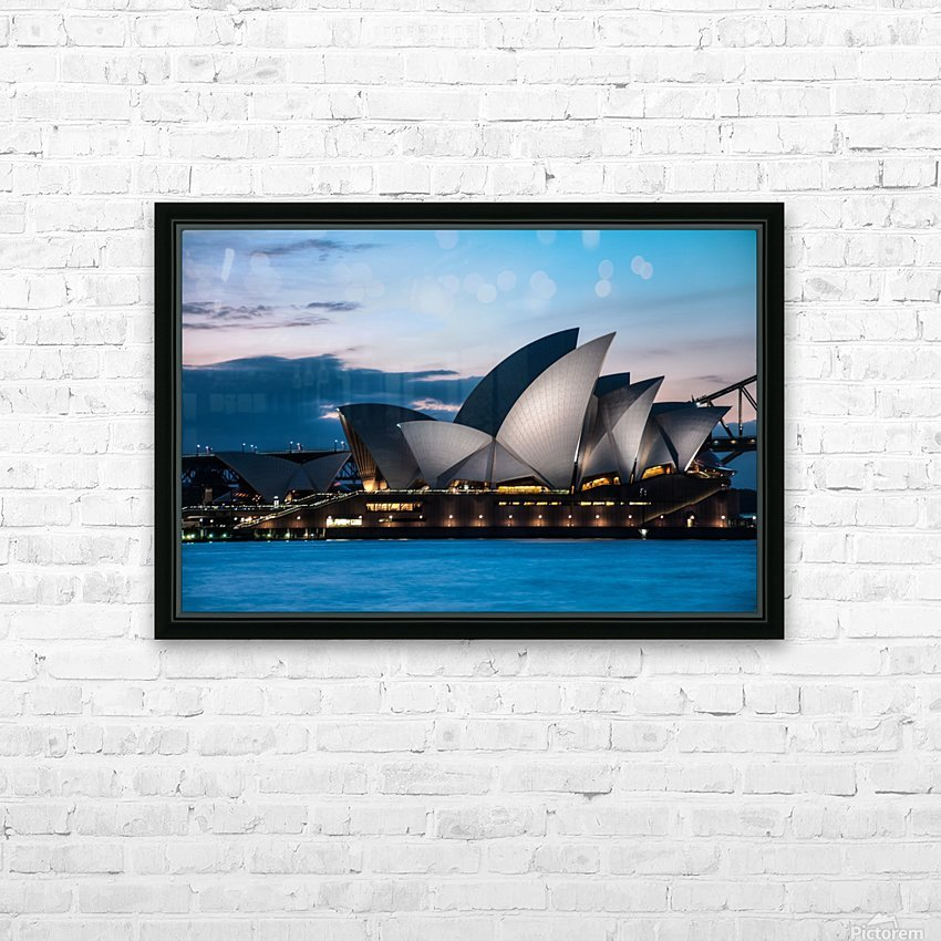 Glowing Opera House HD Sublimation Metal print with Decorating Float Frame (BOX)