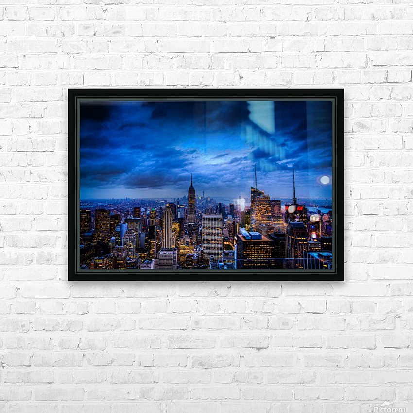 Empire State of Mind HD Sublimation Metal print with Decorating Float Frame (BOX)