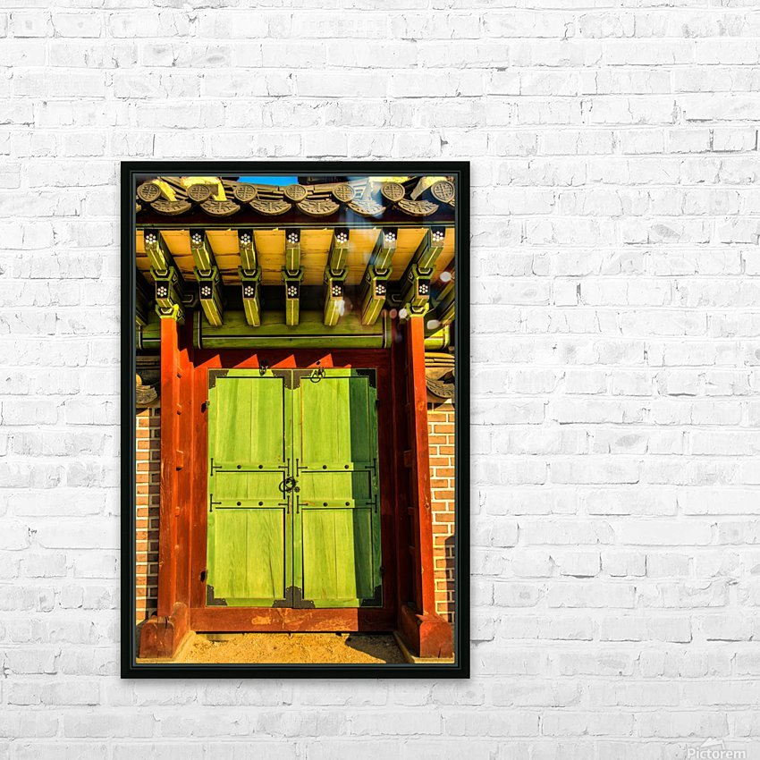 Korean Door HD Sublimation Metal print with Decorating Float Frame (BOX)