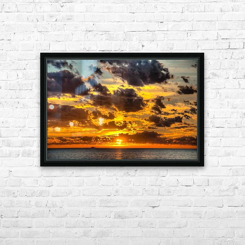 Fire in the Sky HD Sublimation Metal print with Decorating Float Frame (BOX)