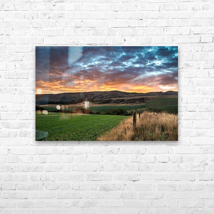 Morning Glory HD Sublimation Metal print with Decorating Float Frame (BOX)
