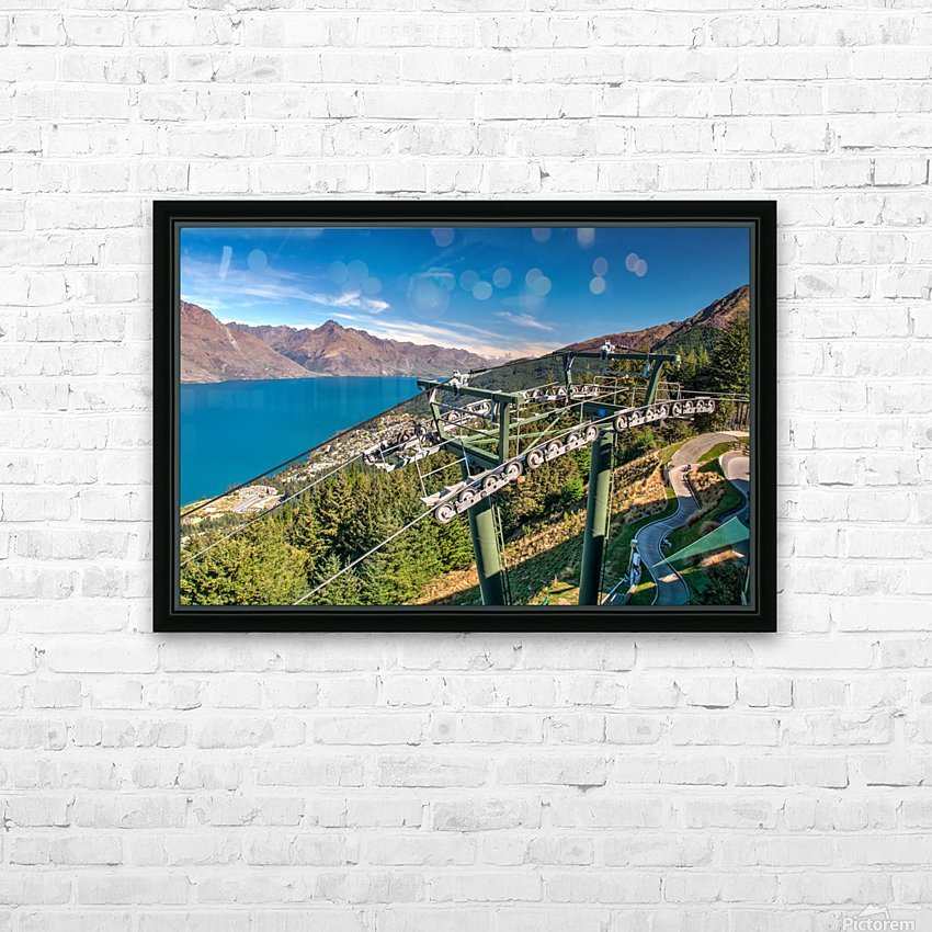 Towering over Lake Wakatipu HD Sublimation Metal print with Decorating Float Frame (BOX)