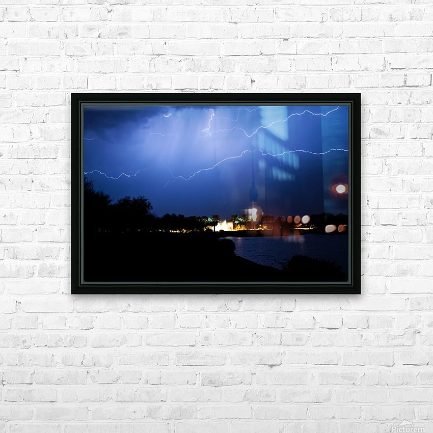 Chasing light HD Sublimation Metal print with Decorating Float Frame (BOX)