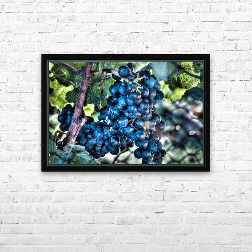 Bunches of Grapes HD Sublimation Metal print with Decorating Float Frame (BOX)