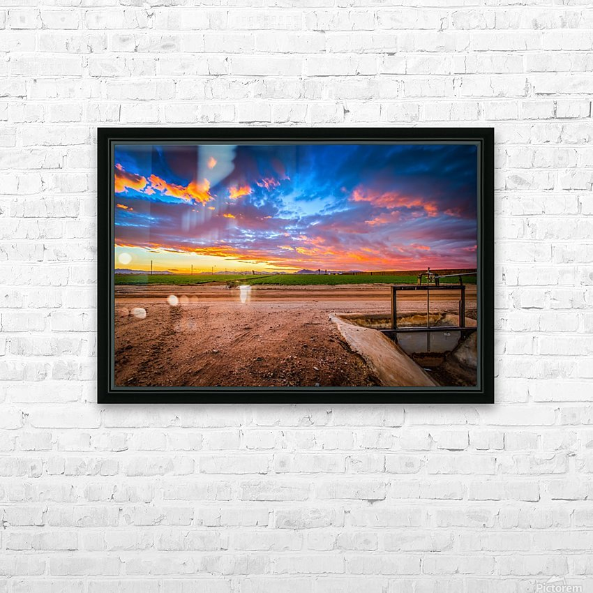 At Days End HD Sublimation Metal print with Decorating Float Frame (BOX)