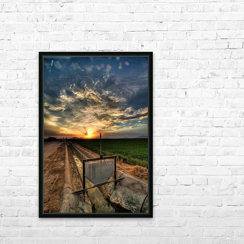 Water is Essential HD Sublimation Metal print with Decorating Float Frame (BOX)