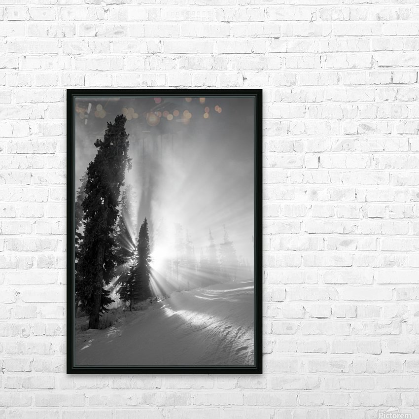 Frozen mist HD Sublimation Metal print with Decorating Float Frame (BOX)