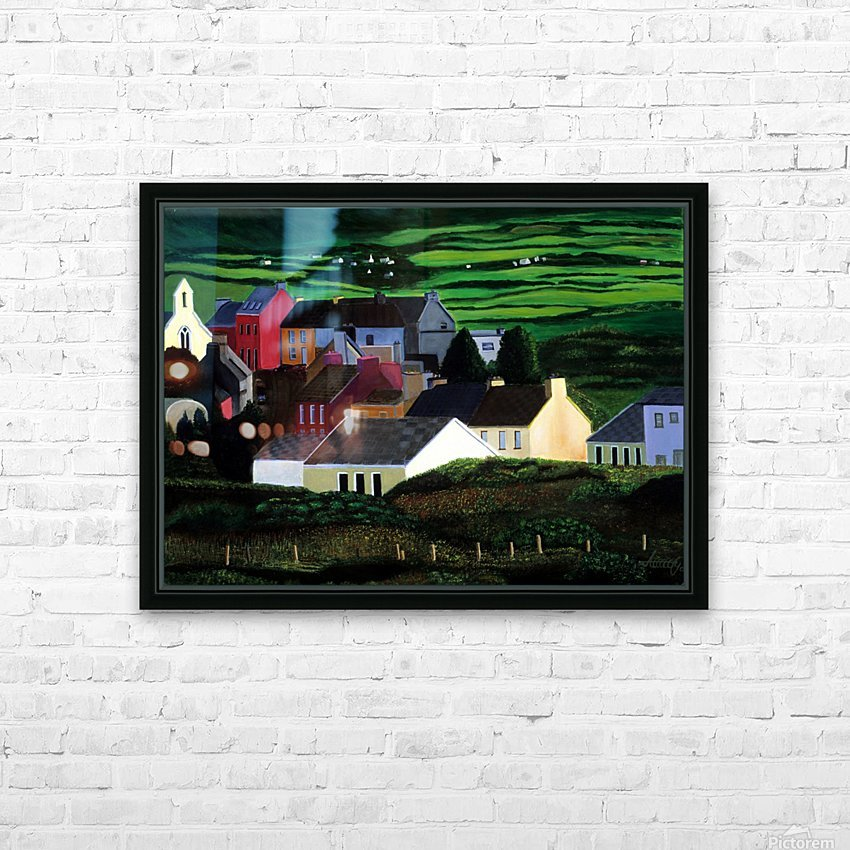 IRELAND VILLAGE HD Sublimation Metal print with Decorating Float Frame (BOX)