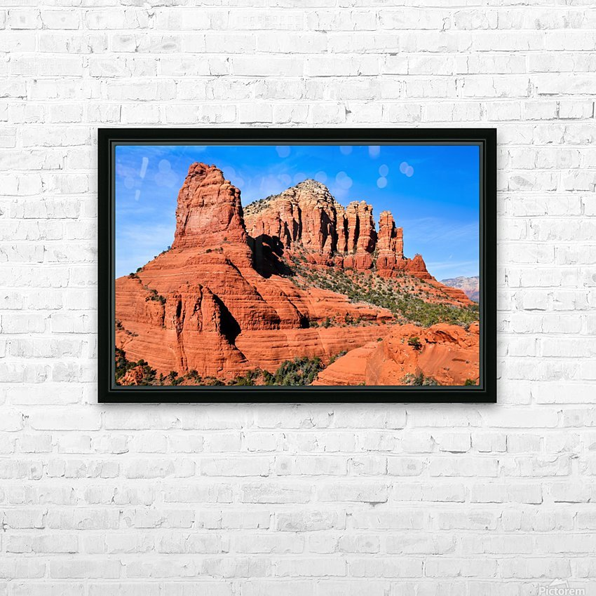 Bell Rock Sedona HD Sublimation Metal print with Decorating Float Frame (BOX)