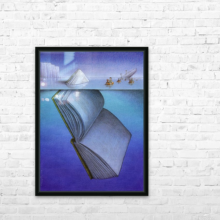 iceberg HD Sublimation Metal print with Decorating Float Frame (BOX)