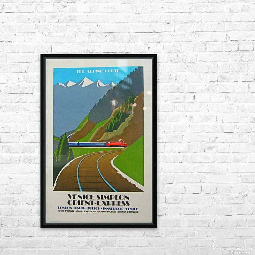 Simplon Orient Express The Alpine Route HD Sublimation Metal print with Decorating Float Frame (BOX)