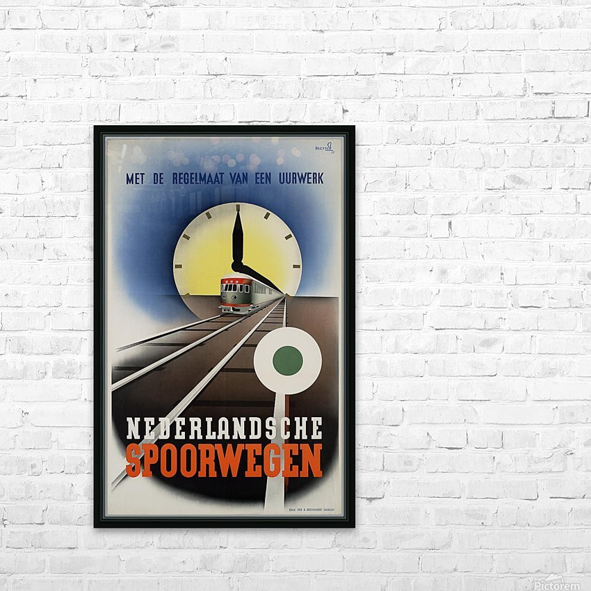 Nederlandse Spoorwegen Poster HD Sublimation Metal print with Decorating Float Frame (BOX)