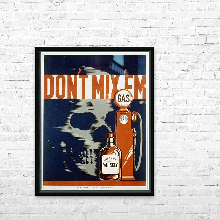 Dont mixem vintage poster HD Sublimation Metal print with Decorating Float Frame (BOX)