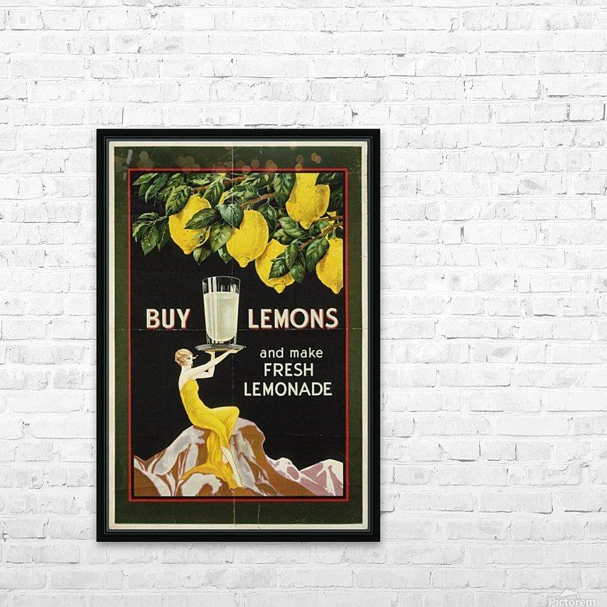 Buy lemons and make lemonade vintage poster HD Sublimation Metal print with Decorating Float Frame (BOX)