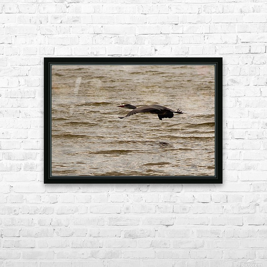 Heron flight HD Sublimation Metal print with Decorating Float Frame (BOX)