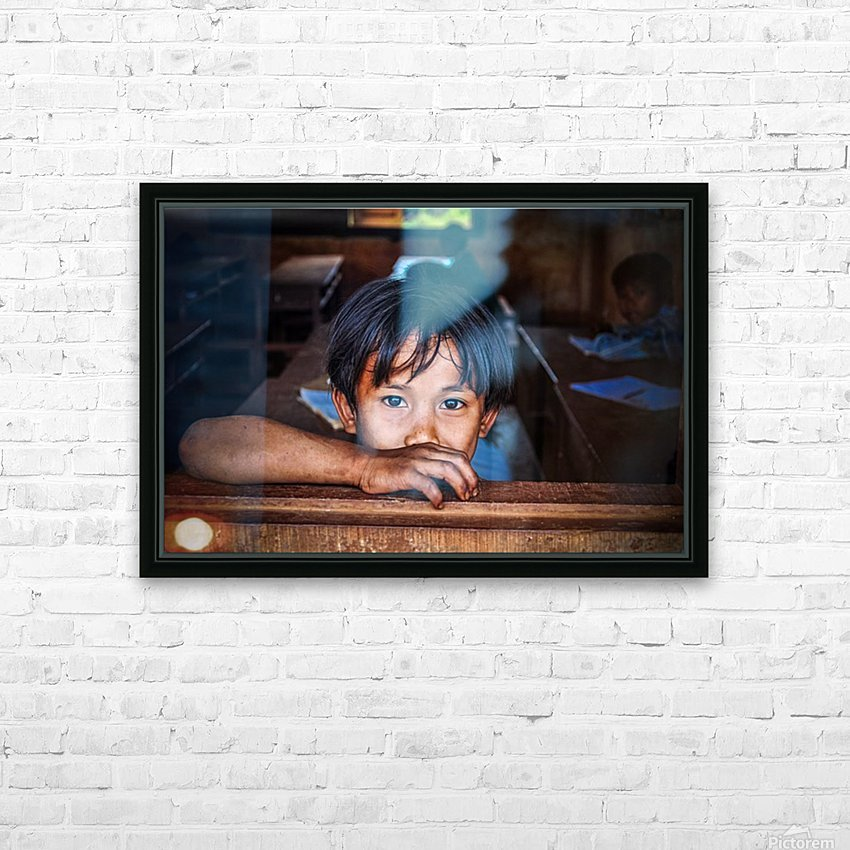 Deep dark eyes HD Sublimation Metal print with Decorating Float Frame (BOX)