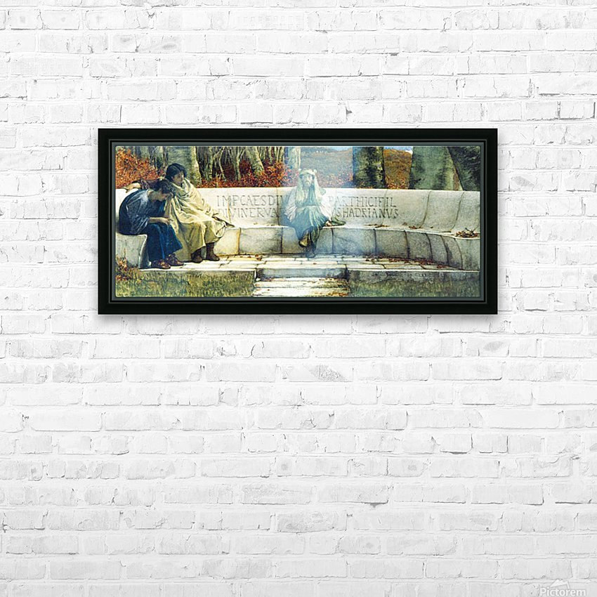 Autumn, detail by Alma-Tadema HD Sublimation Metal print with Decorating Float Frame (BOX)