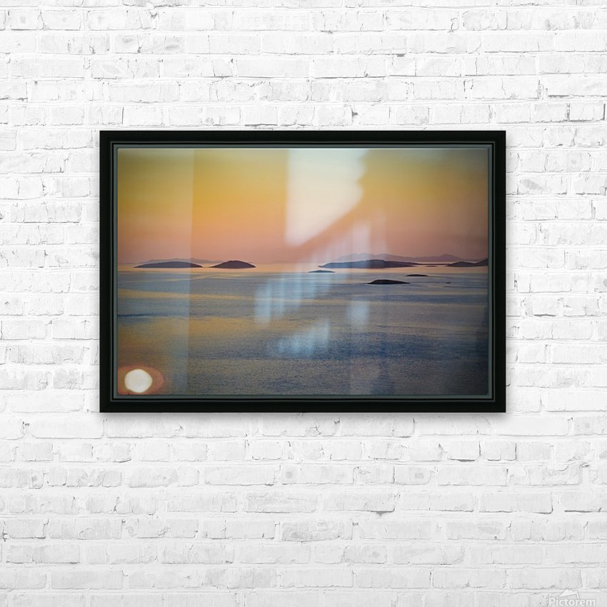 Adriatic islands HD Sublimation Metal print with Decorating Float Frame (BOX)
