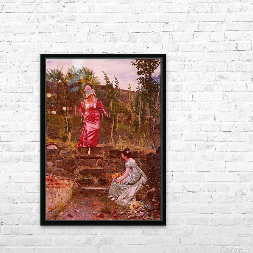An idyllic afternoon HD Sublimation Metal print with Decorating Float Frame (BOX)