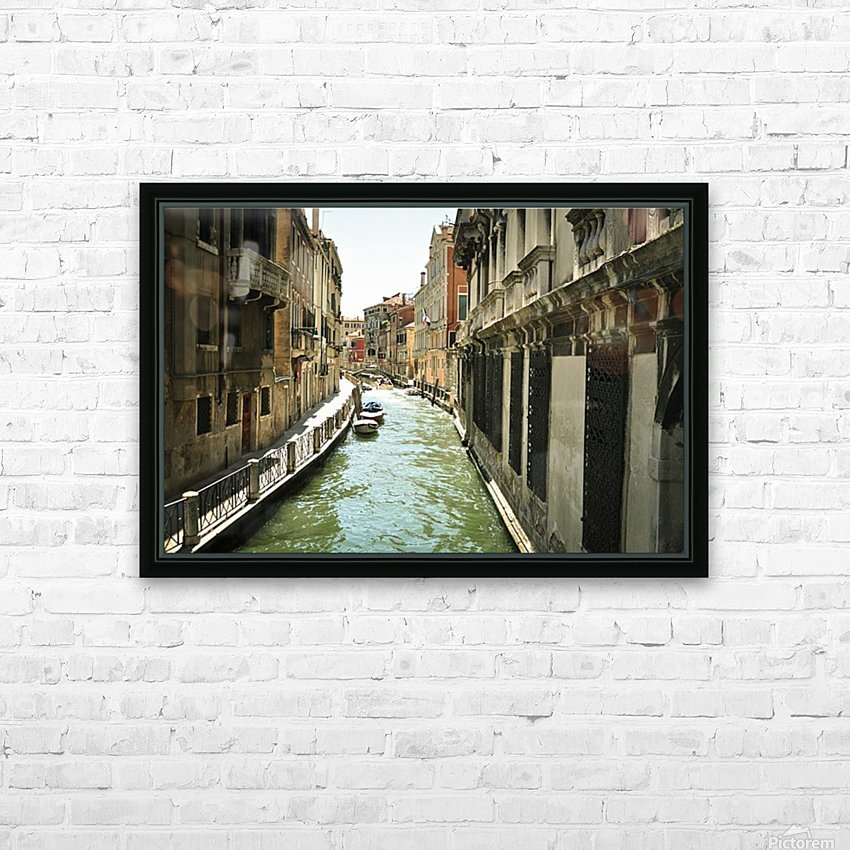 Venice canal HD Sublimation Metal print with Decorating Float Frame (BOX)