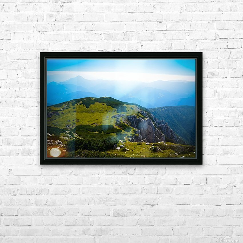 Alpine views HD Sublimation Metal print with Decorating Float Frame (BOX)