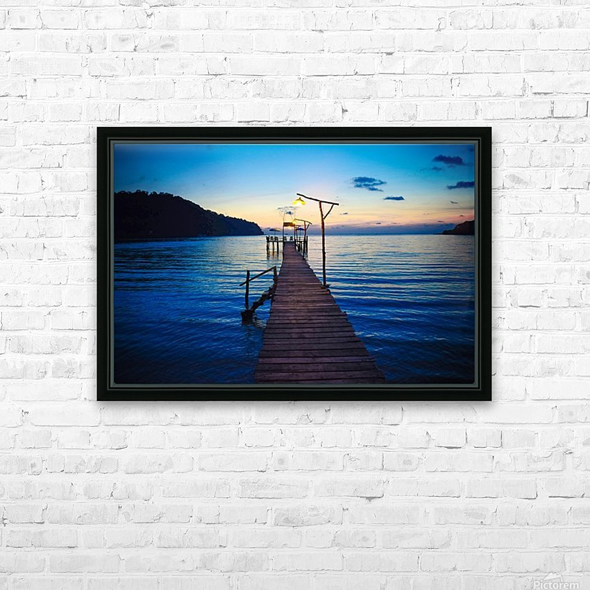 Ko Kut pier HD Sublimation Metal print with Decorating Float Frame (BOX)