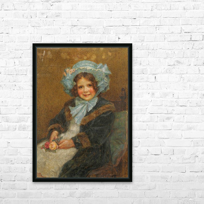 Joyce, daughter of Arthur E J Hinchcliffe Esq HD Sublimation Metal print with Decorating Float Frame (BOX)