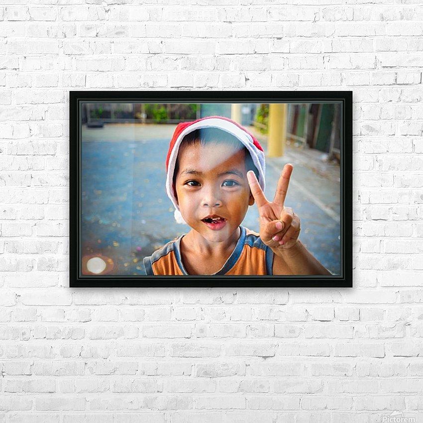 Bangkok boy HD Sublimation Metal print with Decorating Float Frame (BOX)