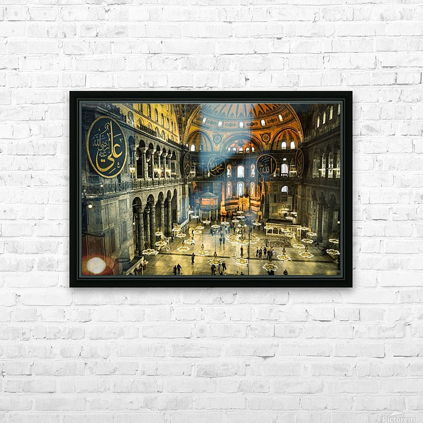 Hagia Sophia HD Sublimation Metal print with Decorating Float Frame (BOX)