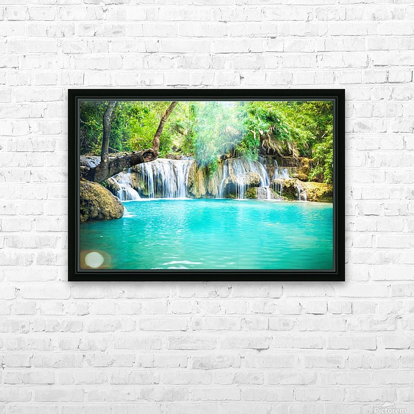 Luang Prabang waterfalls HD Sublimation Metal print with Decorating Float Frame (BOX)