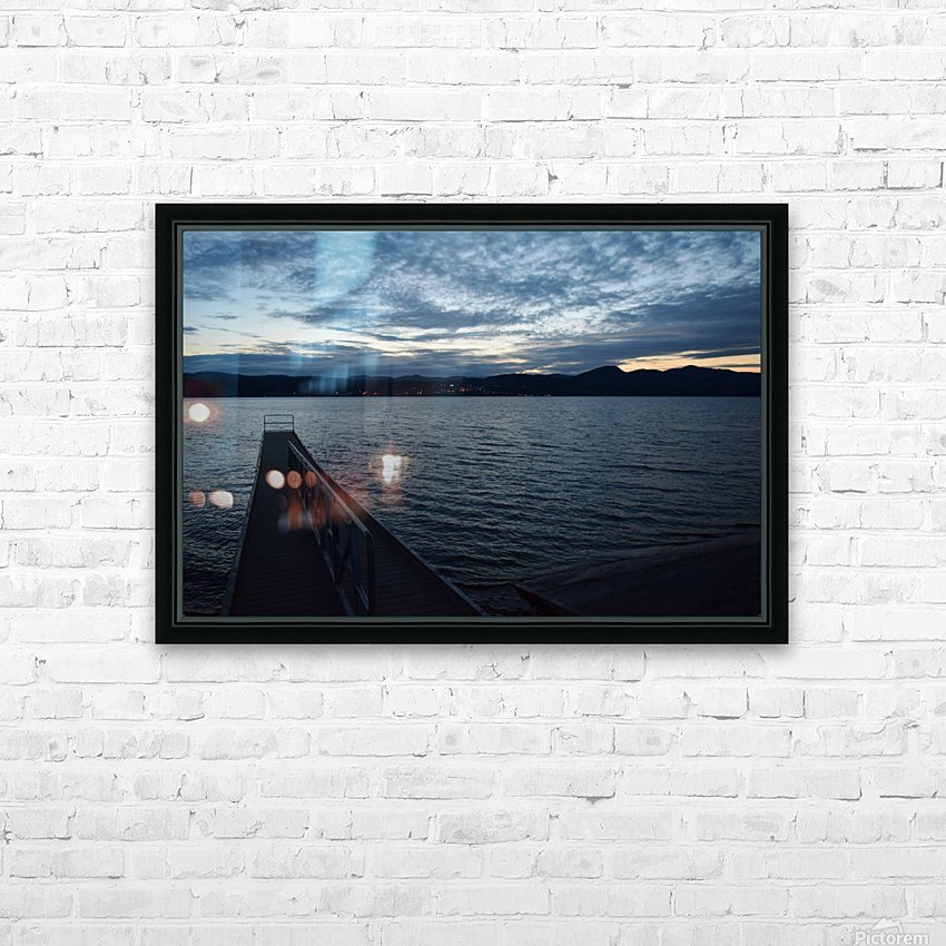 Dusky Dock on Champlain  HD Sublimation Metal print with Decorating Float Frame (BOX)