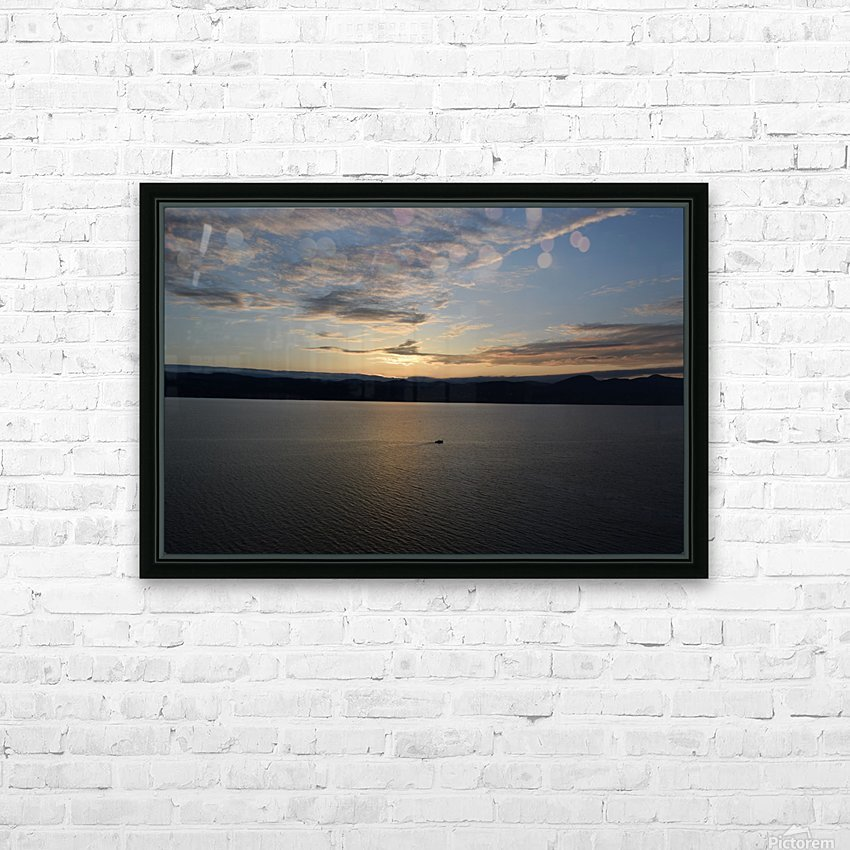 Sunset Boating on Champlain II HD Sublimation Metal print with Decorating Float Frame (BOX)