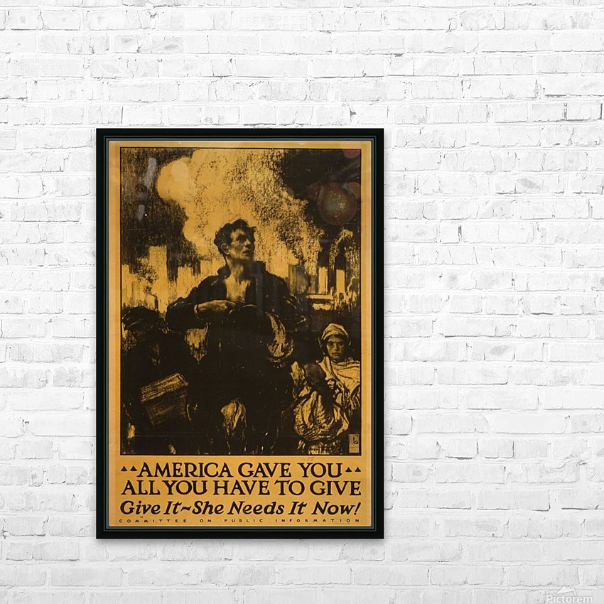 America gave it all HD Sublimation Metal print with Decorating Float Frame (BOX)