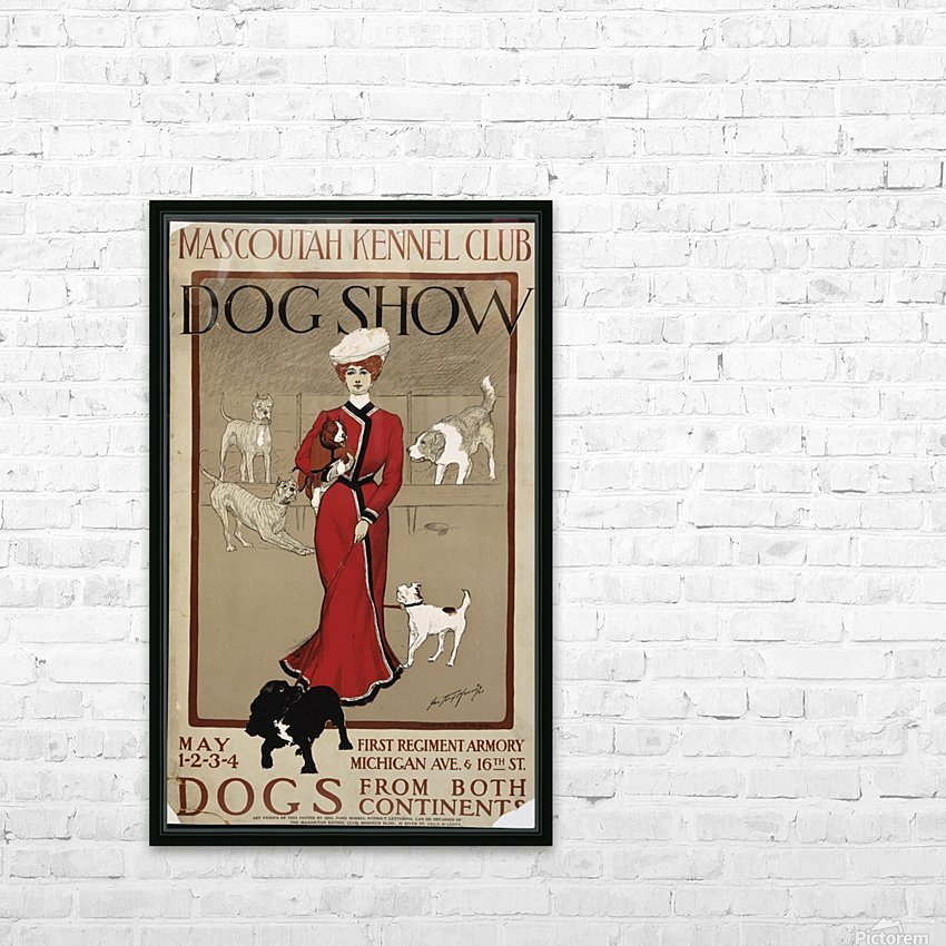 Dog Show HD Sublimation Metal print with Decorating Float Frame (BOX)
