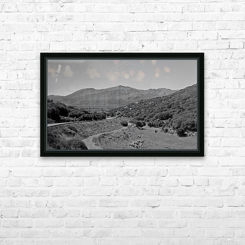 Greek roads in the rural area HD Sublimation Metal print with Decorating Float Frame (BOX)