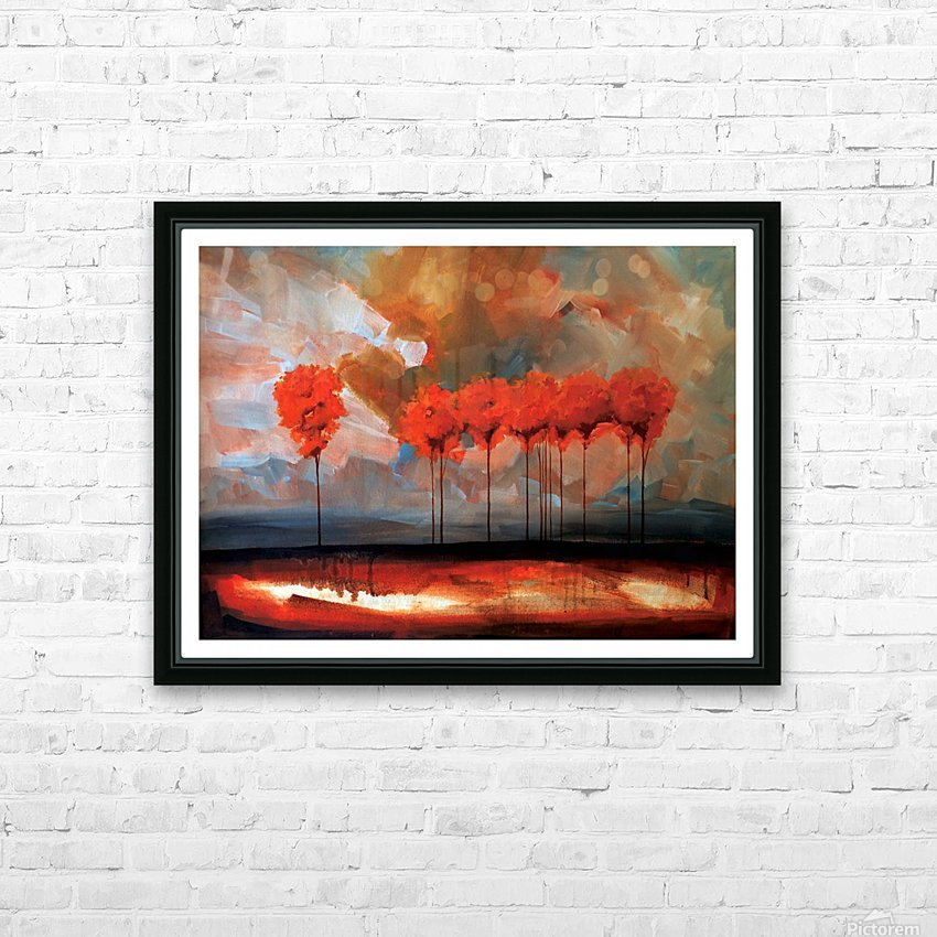 Tall Trees HD Sublimation Metal print with Decorating Float Frame (BOX)