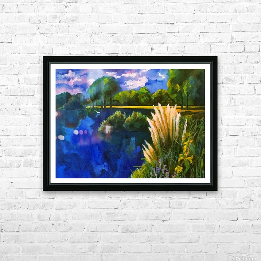 Cattails HD Sublimation Metal print with Decorating Float Frame (BOX)
