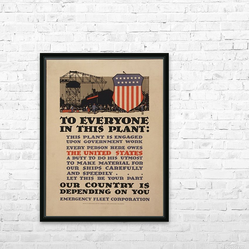 Government work HD Sublimation Metal print with Decorating Float Frame (BOX)
